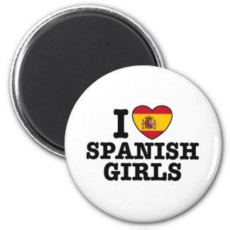 Chicas españoles imán redondo 5 cm