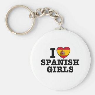 Chicas españoles llavero redondo tipo pin