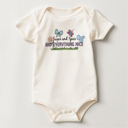 "Chicas especia del azúcar"" del bebé de los bebés trajes de bebé"