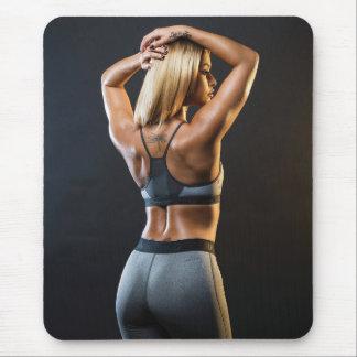 Chicas femeninos calientes de la aptitud mouse pad