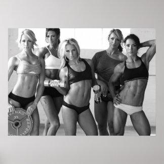 Chicas femeninos calientes de la aptitud - poster