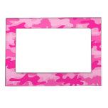 Chicas femeninos rosados del camuflaje de Camo Marcos Magnéticos Para Fotos