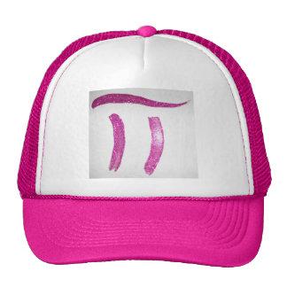 Chicas femeninos rosados del friki del empollón gorras
