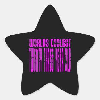 Chicas frescos 23ro: Mundos rosados el veintitrés Pegatinas Forma De Estrella Personalizadas