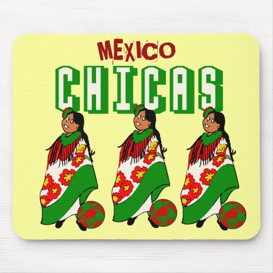 Chicas futbol Mexicana - Mexico Mousepad
