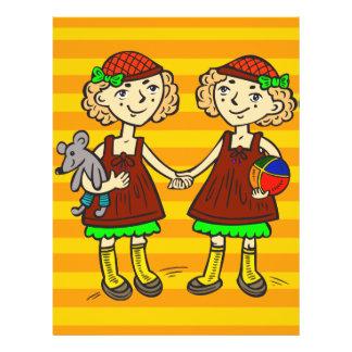 """Chicas gemelos folleto 8.5"""" x 11"""""""