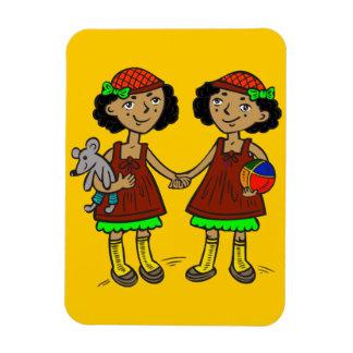 Chicas gemelos imanes