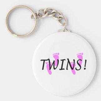Chicas gemelos llavero redondo tipo pin