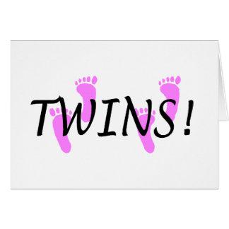 Chicas gemelos tarjetón