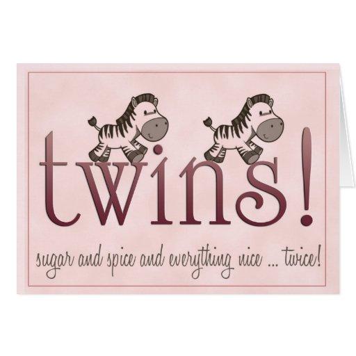 ¡Chicas gemelos! Tarjetas