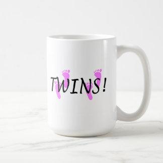 Chicas gemelos taza