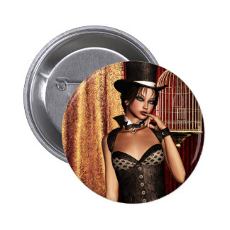 Chicas góticos el Birdcage Steampunk Pin