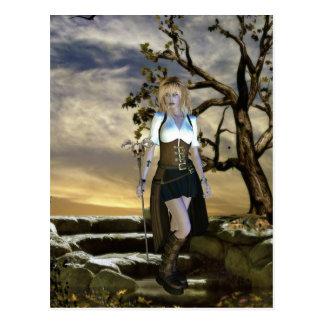 Chicas góticos la postal del cazador