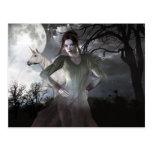 Chicas góticos maldecidos para siempre tarjeta postal