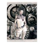 Chicas góticos Steampunk en el corazón Tarjetas Postales
