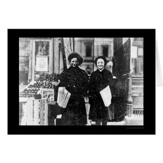Chicas Hartford, CT 1909 del periódico Tarjeta De Felicitación
