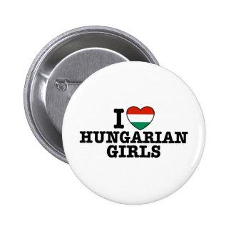 Chicas húngaros pin redondo de 2 pulgadas