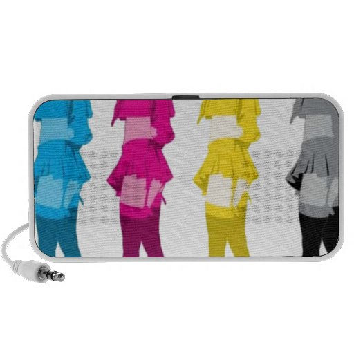 Chicas imponentes del cosmo laptop altavoces
