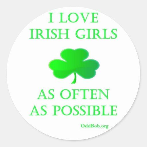 Chicas irlandeses pegatina redonda