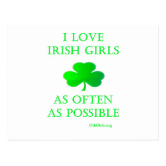 Chicas irlandeses postal