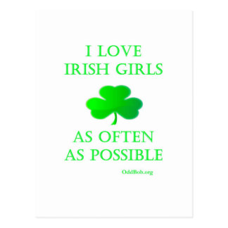 Chicas irlandeses postales