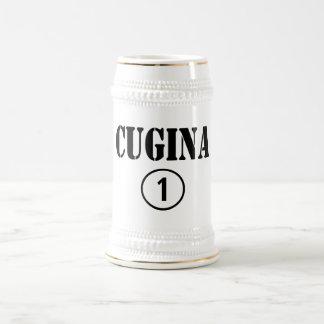 Chicas italianos de los primos: Uno de Cugina Jarra De Cerveza