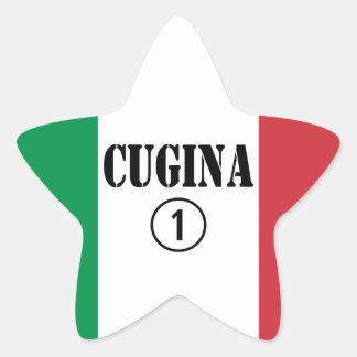 Chicas italianos de los primos: Uno de Cugina Pegatina En Forma De Estrella