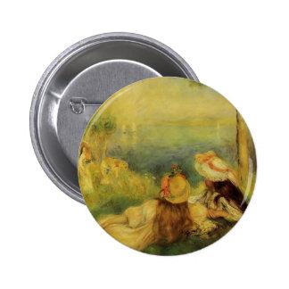 Chicas jóvenes de Pedro-Auguste Renoir- por el mar Pins