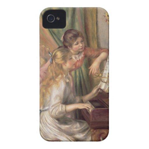 Chicas jóvenes en el piano, 1892 iPhone 4 Case-Mate carcasa
