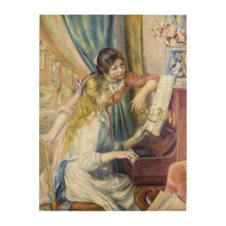 Chicas jóvenes en el piano de Pedro Renoir Cuadros De Madera