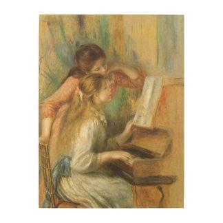 Chicas jóvenes en el piano de Pedro Renoir Impresiones En Madera