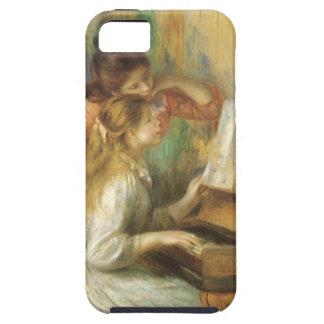 Chicas jóvenes en el piano por Renoir, bella arte iPhone 5 Case-Mate Fundas