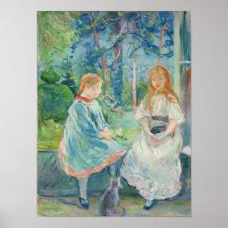 Chicas jóvenes en la ventana, 1892 poster