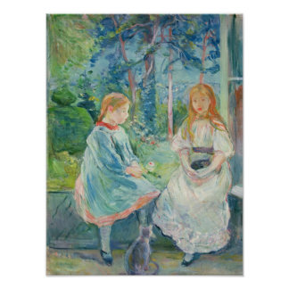 Chicas jóvenes en la ventana, 1892 póster
