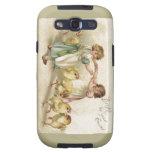 Chicas lindos de Pascua con la postal del Polluelo Samsung Galaxy S3 Funda