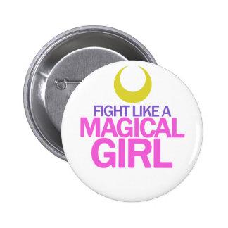 Chicas mágicos en un botón pin