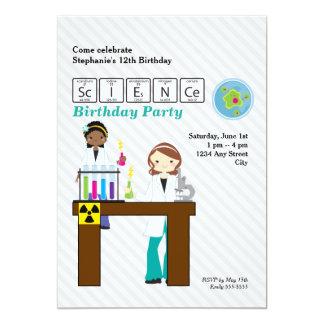 """Chicas marchosas del cumpleaños de la ciencia invitación 5"""" x 7"""""""