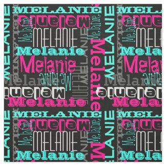 Chicas modernos de encargo del collage del nombre telas