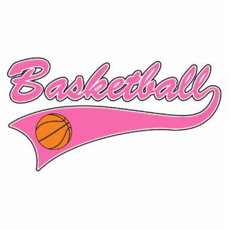 chicas para mujer del rosa del logotipo del balonc esculturas fotograficas