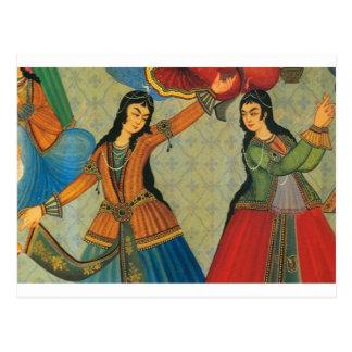 Chicas persas de baile postales