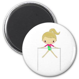 Chicas personalizados ropa y accesorios gimnástico imán redondo 5 cm