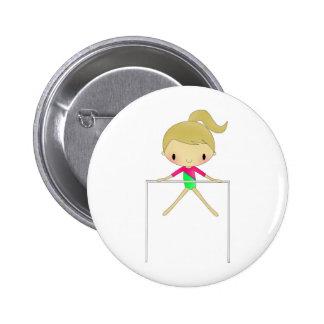 Chicas personalizados ropa y accesorios gimnástico pin redondo de 2 pulgadas