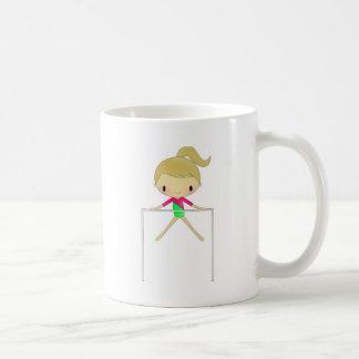 Chicas personalizados ropa y accesorios gimnástico taza básica blanca