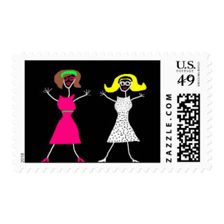 Chicas postage stamp by SweetKitten