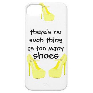 Chicas que aman amarillo de los zapatos iPhone 5 Case-Mate coberturas