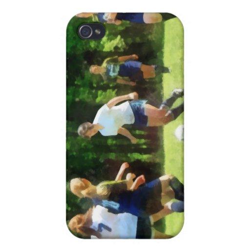 Chicas que juegan a fútbol iPhone 4 coberturas