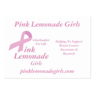 Chicas rosados de la limonada tarjetas de visita grandes