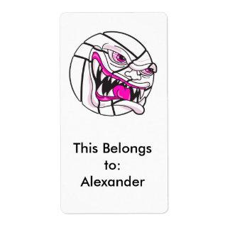 chicas rosados extremos del voleibol malo enojado etiqueta de envío