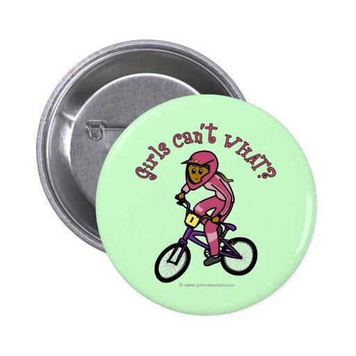 Chicas rosados oscuros BMX Pin Redondo 5 Cm