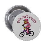 Chicas rosados oscuros BMX Pins